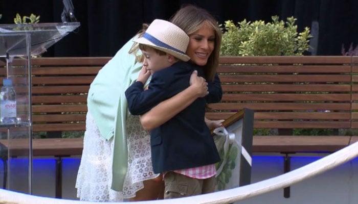 First Lady dedicates 'healing' garden at children's hospital