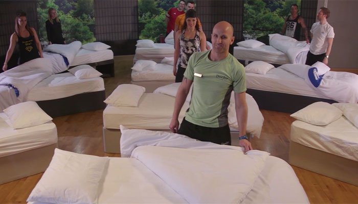 This exercise class is designed for exhausted parents. Talk about power napping! (Source: David Lloyds Clubs/CNN)