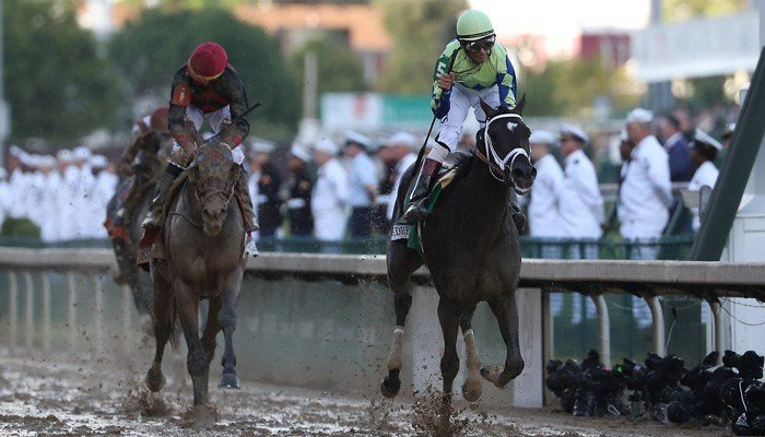 John Velazquez rides Always Dreaming to victory in the Kentucky Derby on Saturday. (Source: John P. Wise/WAVE3.com)