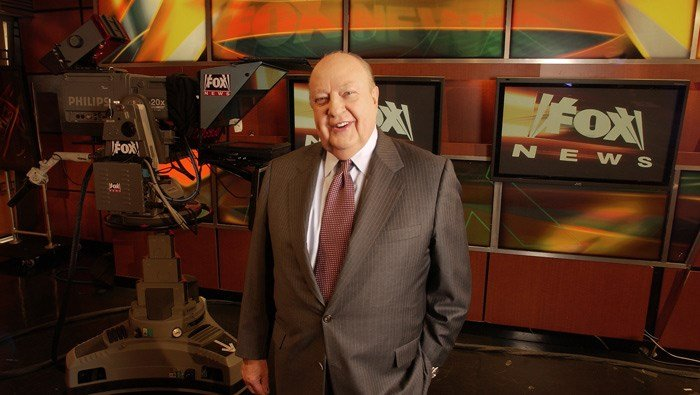In this Sept. 29, 2006 file photo, Fox News CEO Roger Ailes poses at Fox News in New York. (AP Photo/Jim Cooper, file)