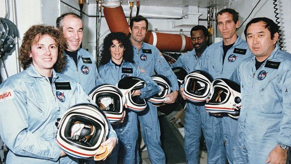 The seven-member challenger crew died 25 years ago. (Source: CNN)