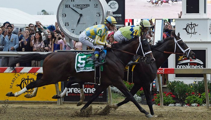 Rested and ready: 13-1 shot Cloud Computing wins Preakness