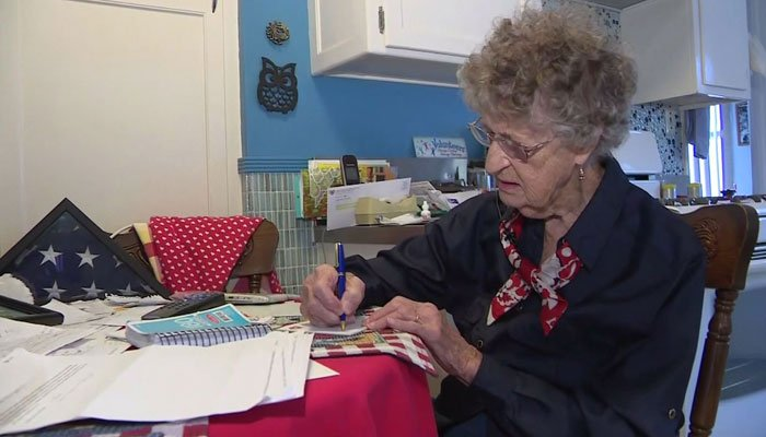 An elderly woman started sending letters to America's troops back during World War II. They've gone to soldiers in harm's way and the wounded in hospitals. (Source: KCAL/KCBS/Snapshots Provided by Soldiers/Cooper Family Photos/CNN)