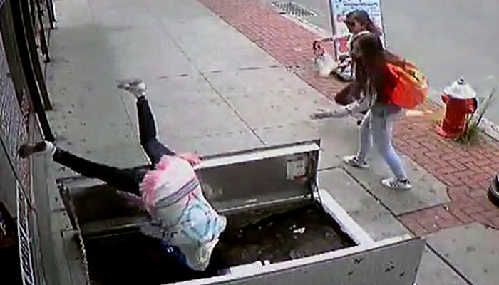 Texting woman seriously injured in fall through NJ sidewalk access door