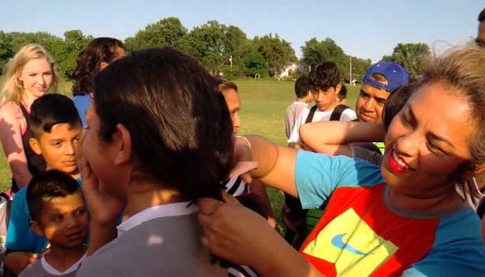 Soccer team cuts hair to support teammate mistaken for a boy