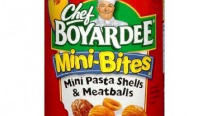 The products, including Chef Boyardee Mini Pasta and Meatballs, are being recalled due to a labeling error. (Source: Chef Boyardee)