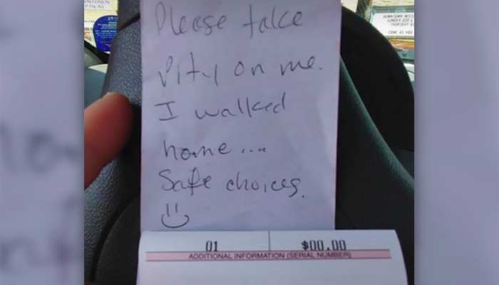 A Wisconsin driver who left a car at a metered space got out of a parking ticket by leaving a note. (Source: Wausau Police/CNN)