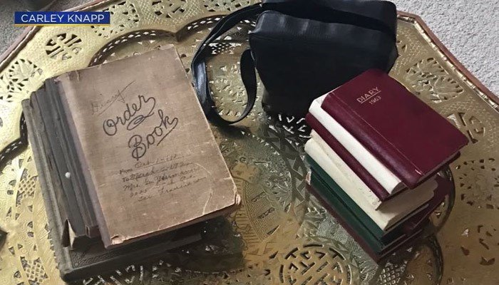 The diaries belonged to a woman named Estelle Fehlberg and date back to 1924.  (Source: Carley Knapp/KOVR/CNN)