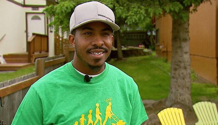 Rodney Smith Jr. flew all the way from Alabama to Alaska to mow a yard. (Source: KTUU/CNN)