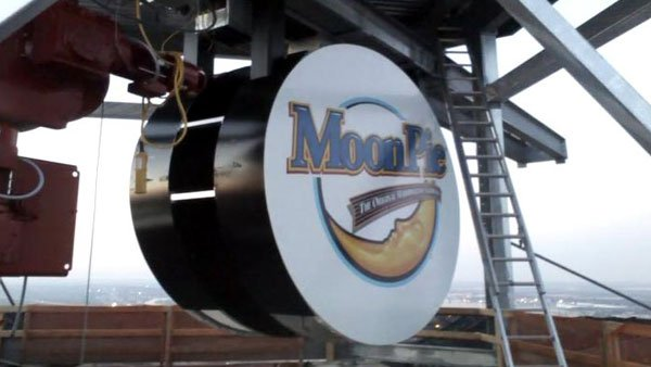 Mardi Gras' favorite throw, the MoonPie, has become such an integral part of Mobile that a giant LED version is now dropped on New Year's Eve. (Source: WSFA)