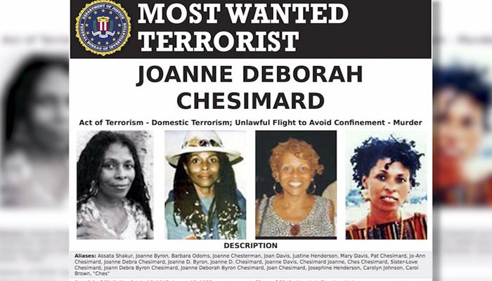 Assata Shakur was the first woman put on the FBI terrorism list and there is a $2 million ransom for her capture. (Source: FBI.gov/NEWS 12 NJ/CNN)