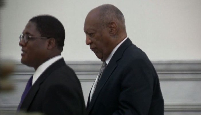 Bill Cosby leaving court. (Source: CNN)
