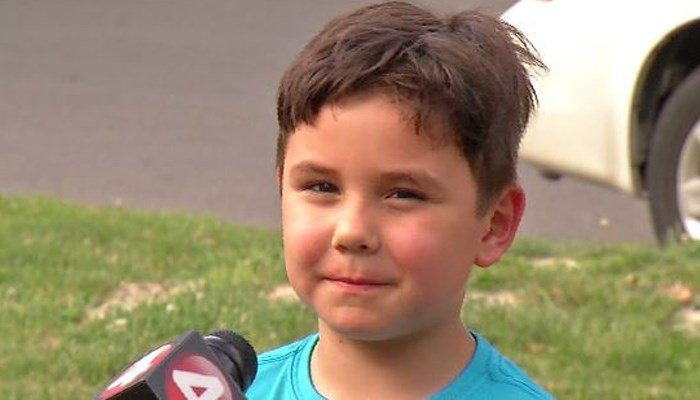 Six-year-old Skyler Anderson said he was walking along a grassy area of a park trail when he saw a needle, picked it up and accidentally pricked himself. (Source: WIVB/CNN)