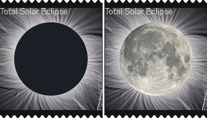 USPS reveals total eclipse Forever stamp