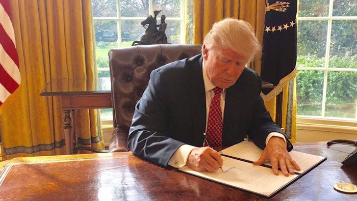 The Supreme Court is allowing President Donald Trump's executive order to put a 90-day ban on people coming to the U.S. from six majority-Muslim countries, overturning lower court rulings. (Source: White House/CNN)