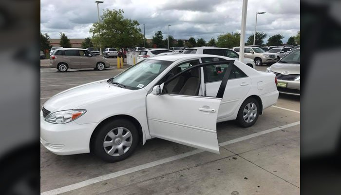 This is the 2004 Toyota that Mitchell and many others in Rockwall, TX, chipped in to buy Korva. (Source: Andy Mitchell/Facebook)