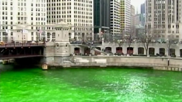The Chicago River is turned green every year for St. Patrick's Day. (Source: WAFF)