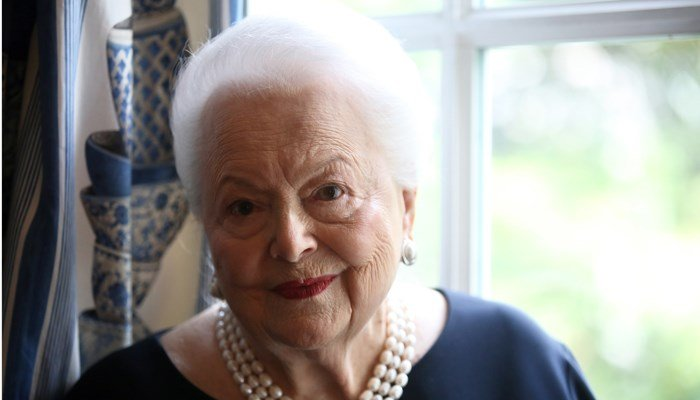 Olivia de Havilland in 2016 a few weeks before her 100th birthday, was said to losing some vision and hearing, but her mind is still sharp. (Source: AP/.Thibalt Camus)