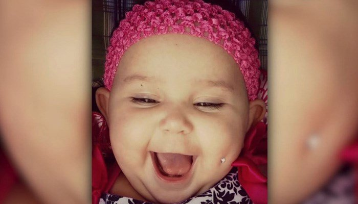 Baby 'piercing' photo sparks debate on social media