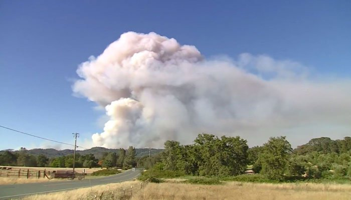 Massive fire, east of Santa Maria, closes Highway 166