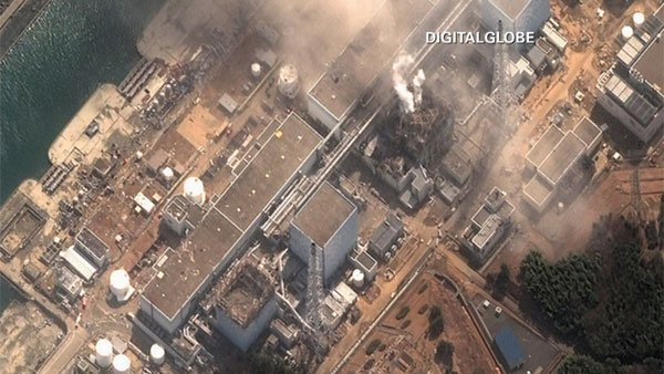 An aerial shot of Japan's damaged Fukushima nuclear reactor. (Source: CNN)
