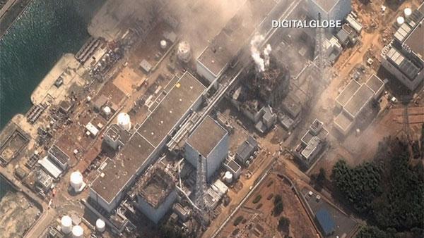 An aerial shot of Japan's damaged Fukushima nuclear reactor. (Source: CNN)