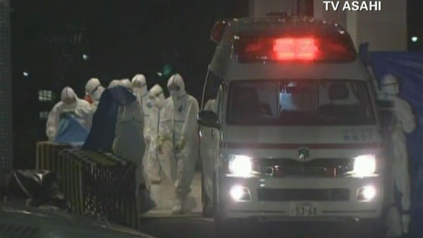 Some workers at the Fukushima plant have treated in the hospital. (Source: CNN)