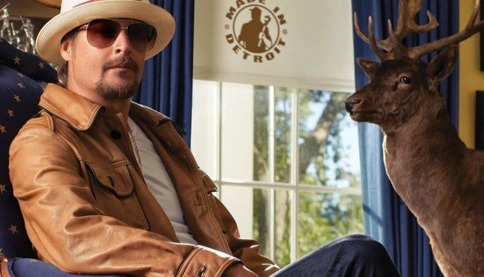 Photo of Kid Rock on his senate page looking statesmanlike. (Source: Kidrockforsenate.com)