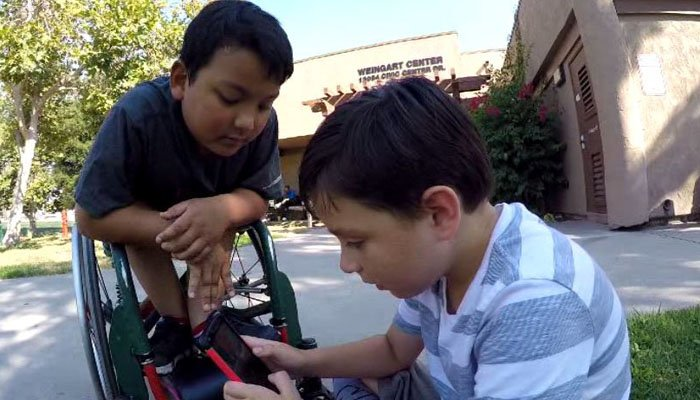 Both 8 years old, Kamden Houshan, left, and Paul Burnett have been friends since kindergarten. (Source: KFMB/CNN)