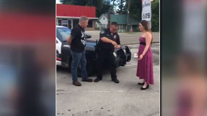 Sarah Ward thought she and her boyfriend were going for a normal date night to an ice cream shop. She said the proposal didn't make her mad; humor and pranks are something that makes their relationship strong. (Source: Scott Newman/WATE/CNN)