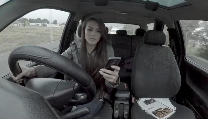 A South African province video uses humor to discuss texting and driving, before taking a dark turn. In the U.S., 28 percent of accidents are caused in some way by cell phone use while driving. (Source: Western Cape Government)