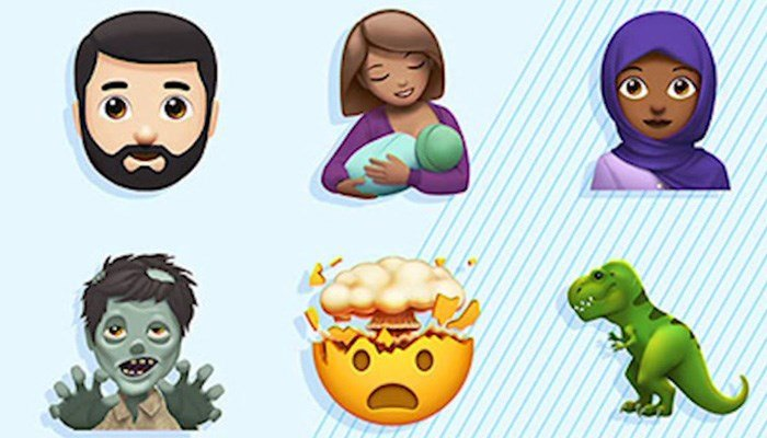 Some of the new emojis from Apple. (Source: Apple via CNN)