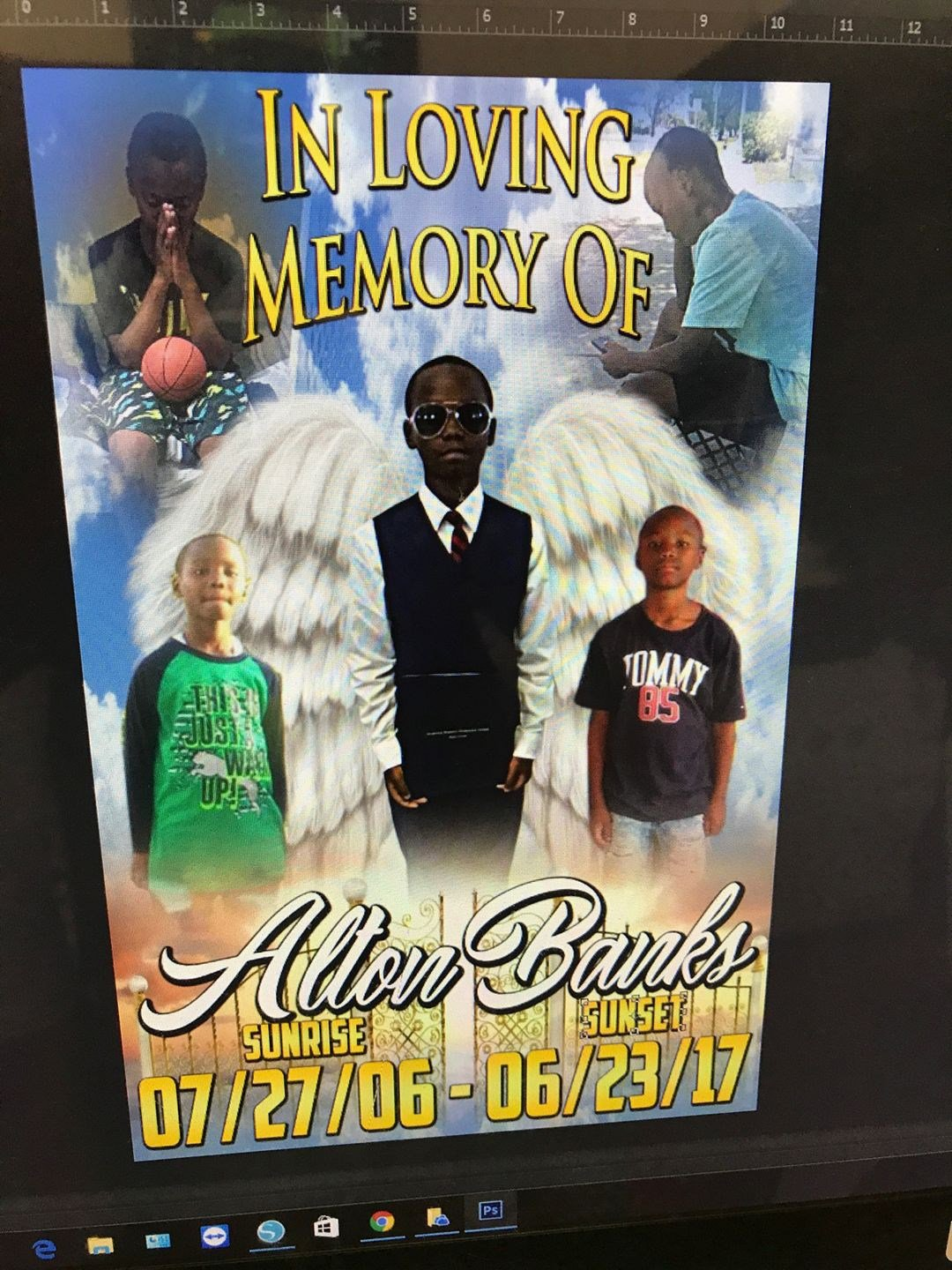The program for Alton's funeral. (Source: Facebook/Shantell Banks)