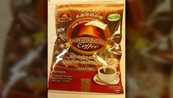 The recalled coffee comes in 13-gram packages. (Source: FDA)