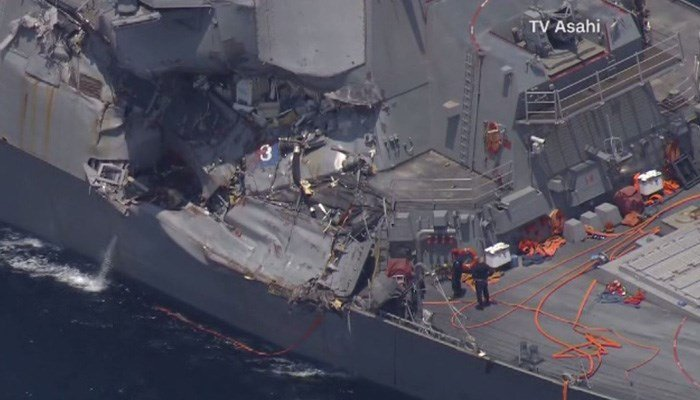 Navy at fault for USS Fitzgerald crash, initial investigation finds