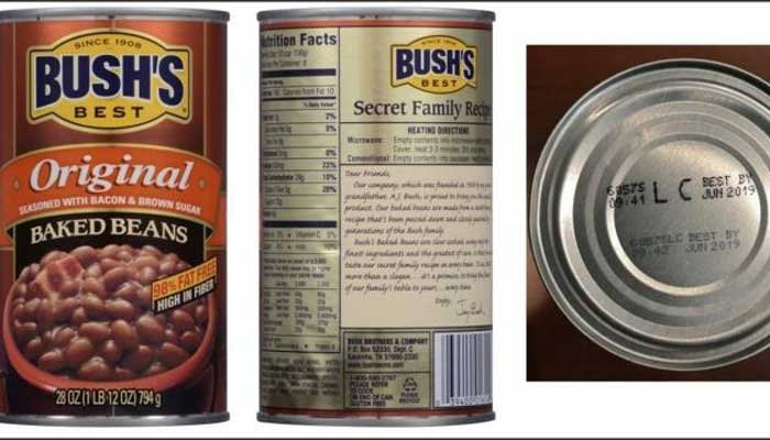 Certain varieties of canned Bush's Baked Beans product are being voluntarily recalled by the company because of a potential canning defect. (Source: Bush's Best)