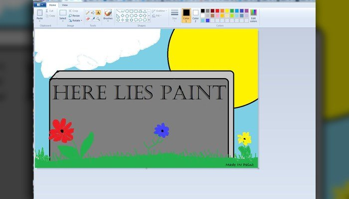 Twitter exploded with Microsoft Paint tombstones on Monday. (Source: Carolyn Yaussy)