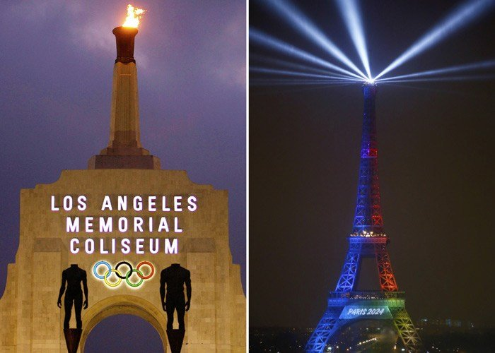 The International Olympic Committee is expected to announce Los Angeles as the host of the 2028 Summer Olympics on Monday. Paris is expected to host in 2024. (Source: AP/File)