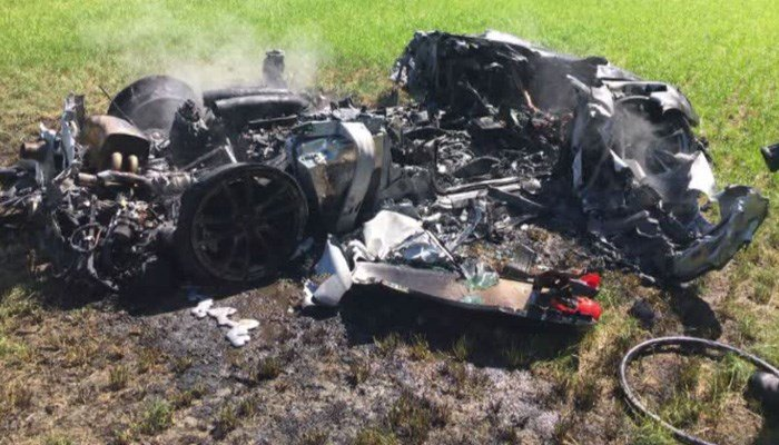 In case you can't tell, that's a Ferrari. (Source: South Yorkshire Police via CNN)