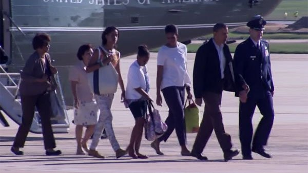 President Obama and family departed Washington by 9:30 a.m. ET. (Source: CNN)
