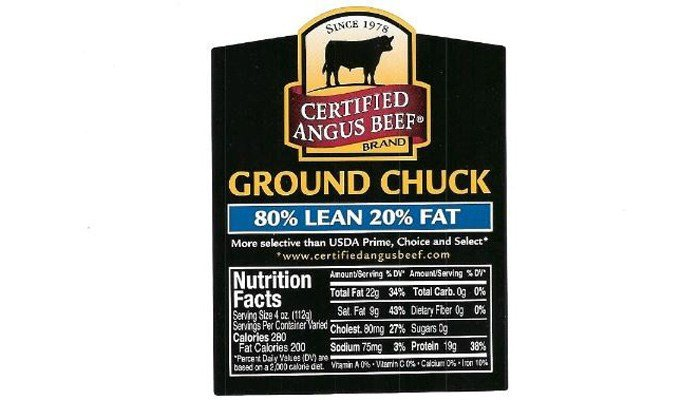 The U.S. Department of Agriculture said that 2 lb. packages of ground chuck may contain more than meat. (Source: USDA)