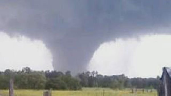 Large, long-track  tornados moved across land and left paths of destruction in their wake. (Source: WAFF)