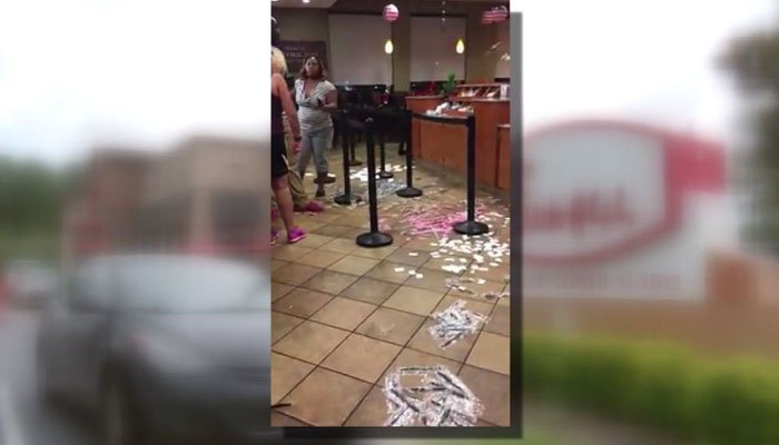 Woman trashes Chick-fil-A in fit of rage