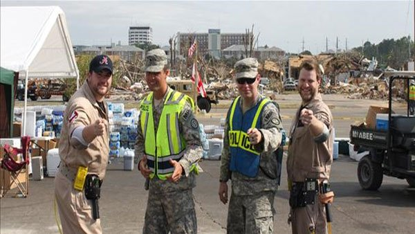 Volunteers, called Ghostbusters, deliver smiles and supplies in Tuscaloosa. (Source: WSFA)
