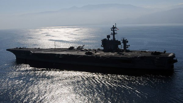 Osama bin Laden's burial at sea occurred off the deck of the USS Vinson, pictured. (Source: Navy.mil)
