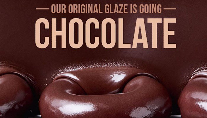 For the first time ever, chocolate glazed doughnuts will be available at Krispy Kreme. (Source: pscf11/Flickr)