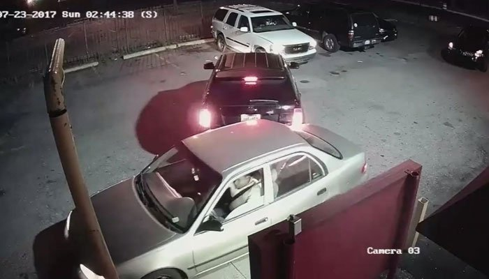 Police said cameras were rolling when a car accident escalated into an armed robbery and no one had any idea the entire thing was caught on video. (Source: WXYZ/Detroit PD/CNN)