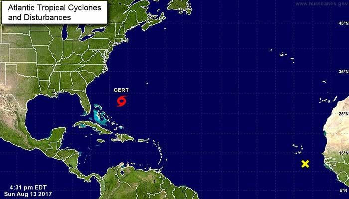 Tropical Storm Gert has formed in the Atlantic