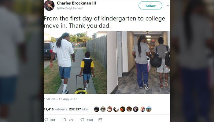 Charles Brockman III and his father are the newest Twitter obsession. (Source: Charles Brockman III/Twitter)