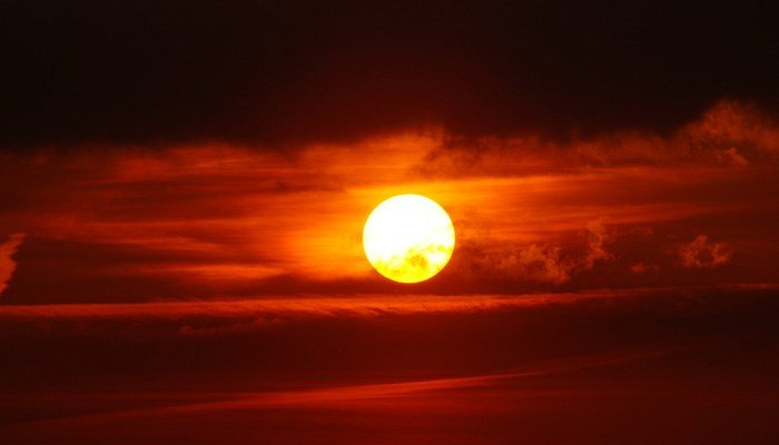 The sun. It will go away Monday. But, don't worry! It will come back - maybe. (Source: Pixabay)
